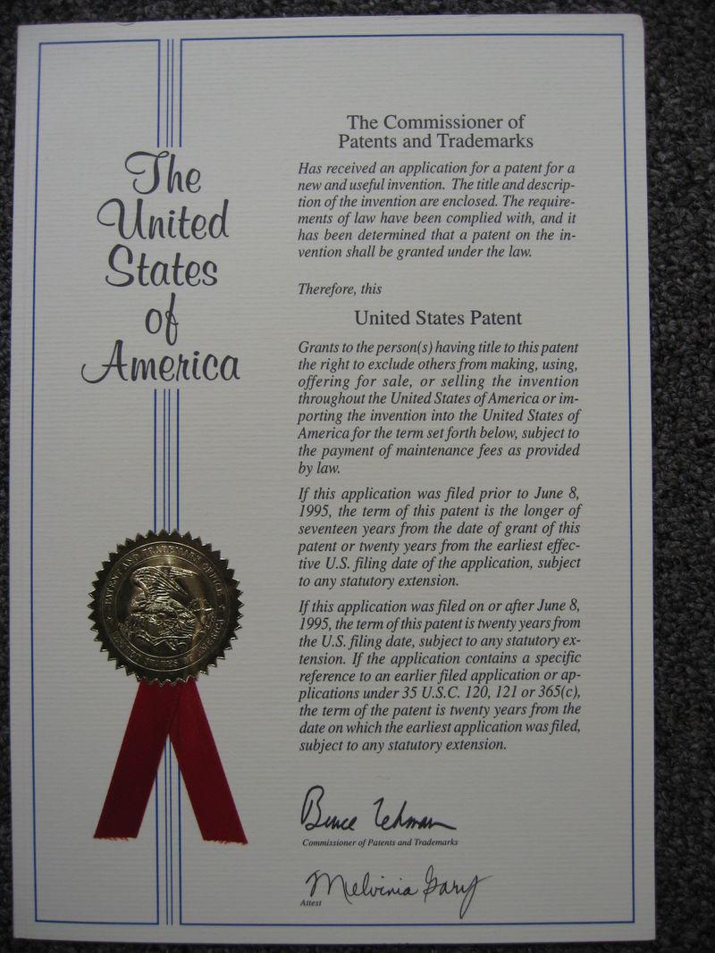 US Patent 003