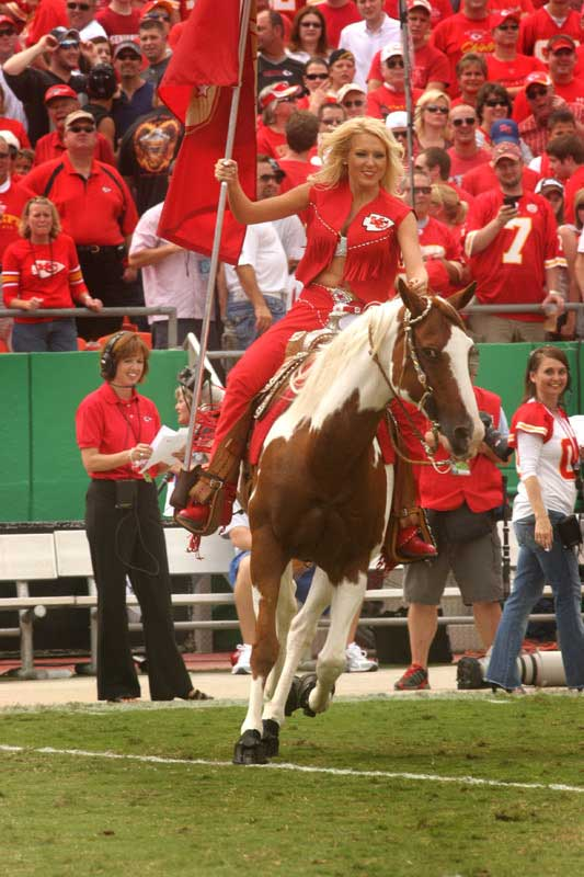 Kansas City Chiefs warpaint in Boa Horse Boots