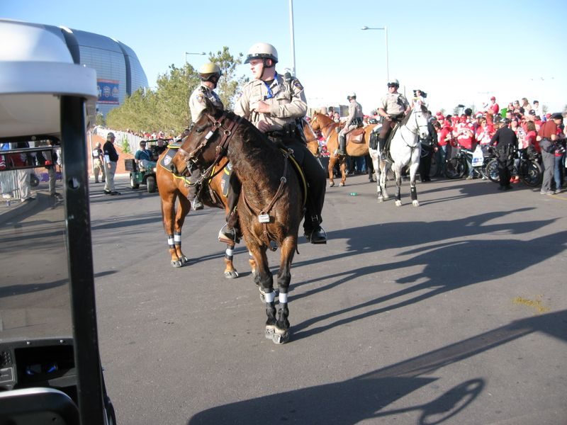 Easyboots on mounted patrol at BCS National Championship Game 003