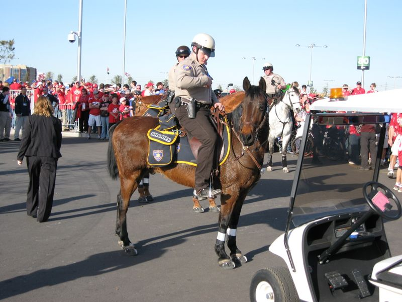 Easyboots on mounted patrol at BCS National Championship Game 005