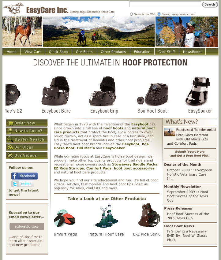 EasyCare hoof boot page